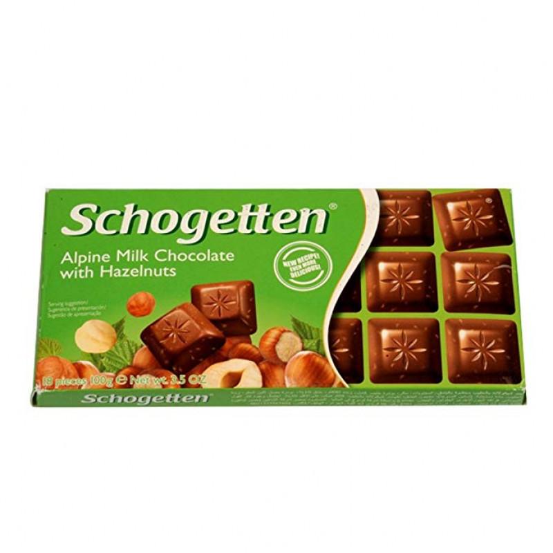 Шоколад Schogetten Hazelnuts  100 ГР