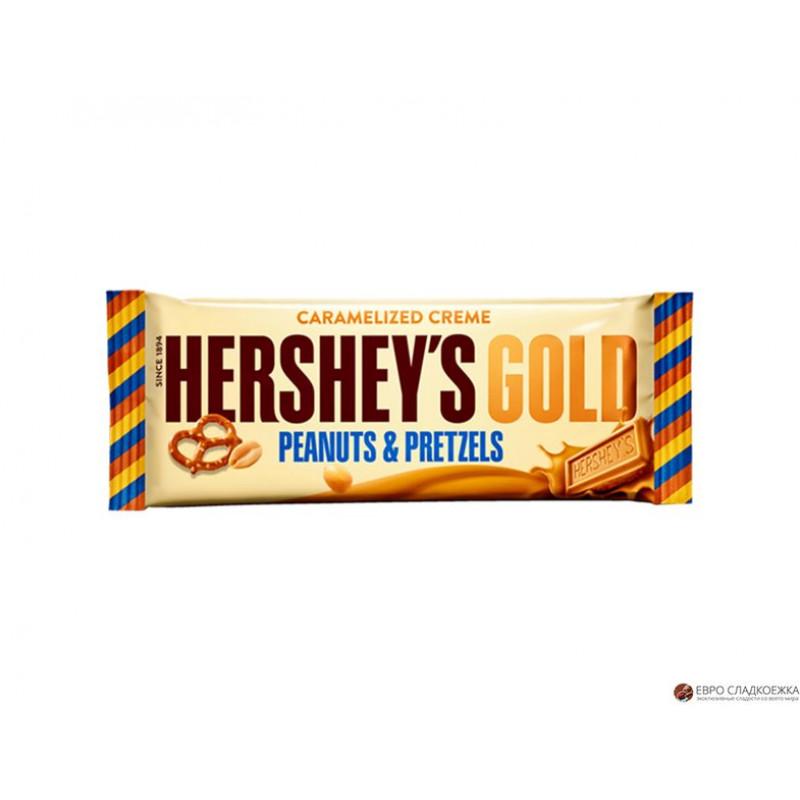Батончик «HERSHEY'S GOLD PEANUTS & PRETZELS» 39 гр