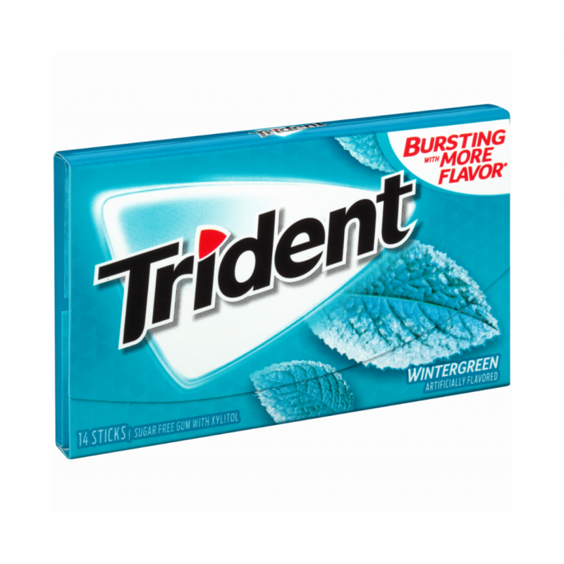 Trident Wintergreen Жевательная резинка SALE