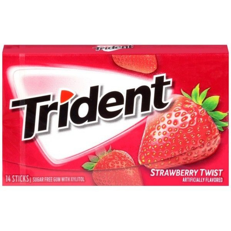 Trident Strawberry Twist Жевательная резинка