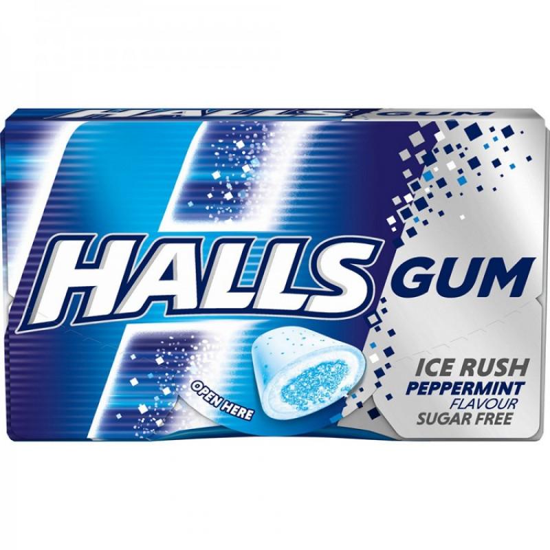 Жевательная резинка HALLS Ice Rush Peppermint