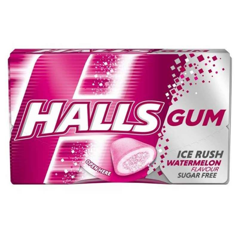 Жевательная резинка HALLS Ice Rush Watermelon