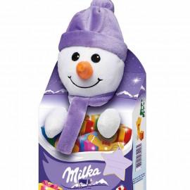 Подарочный набор Milka Плюшевая игрушка (Снеговик) + Шоколад 96гр