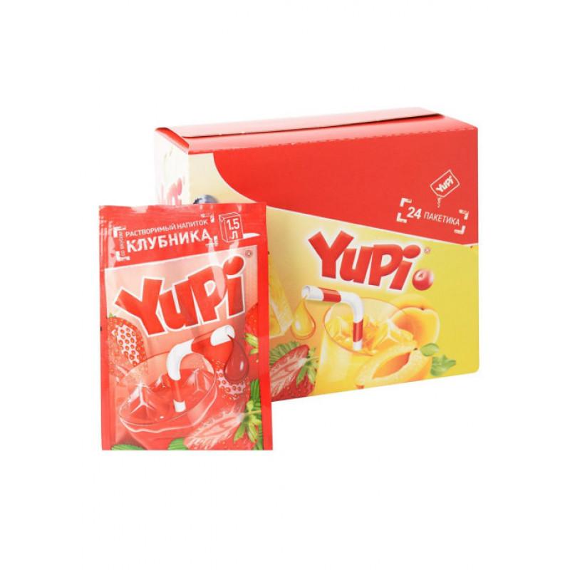 Yupi / Растворимый напиток со вкусом клубники YUPI (блок 24шт по 15гр)