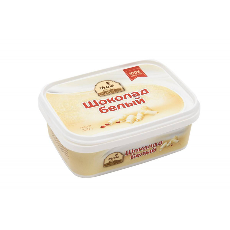 """Шоколад белый """"Мистер Чо"""" 300 гр (литой)"""