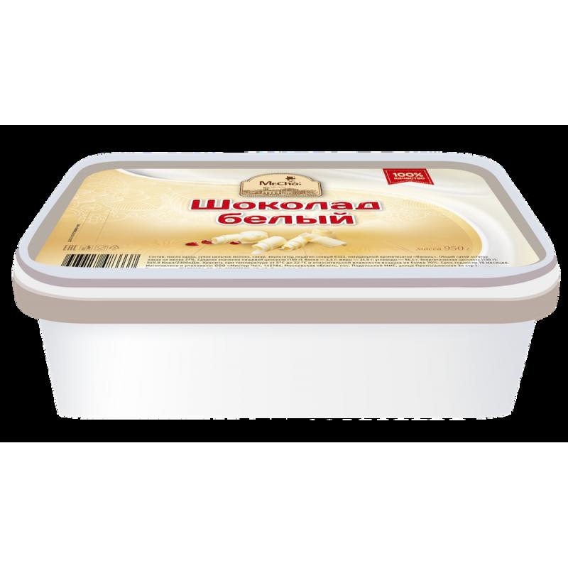 """Белый шоколад """"Мистер Чо""""  950 гр (литой)"""