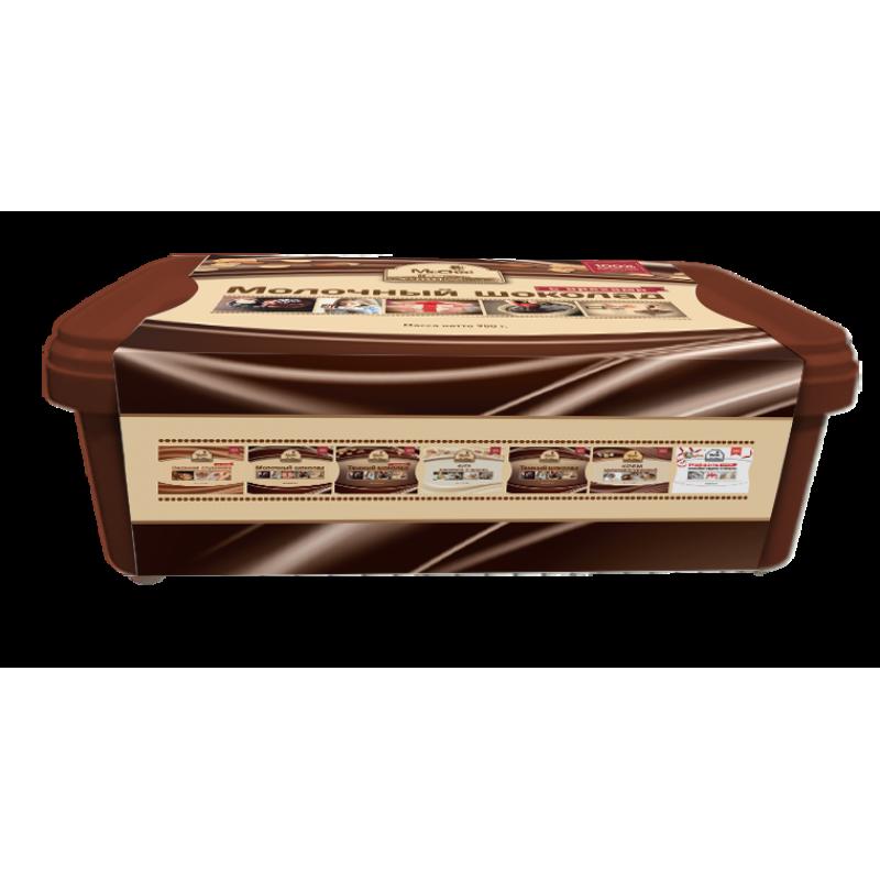 """Молочный шоколад с орехами """"Мистер Чо""""  950 гр (литой)"""