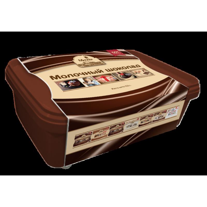 """Молочный шоколад """"Мистер Чо""""  950 гр (литой)"""