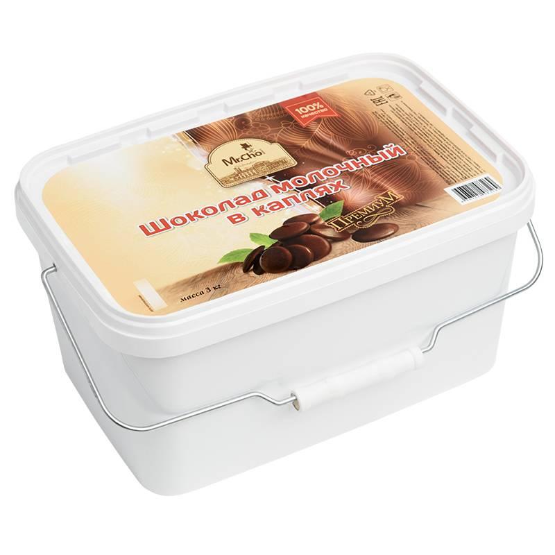 Молочный шоколад в каплях 3 кг