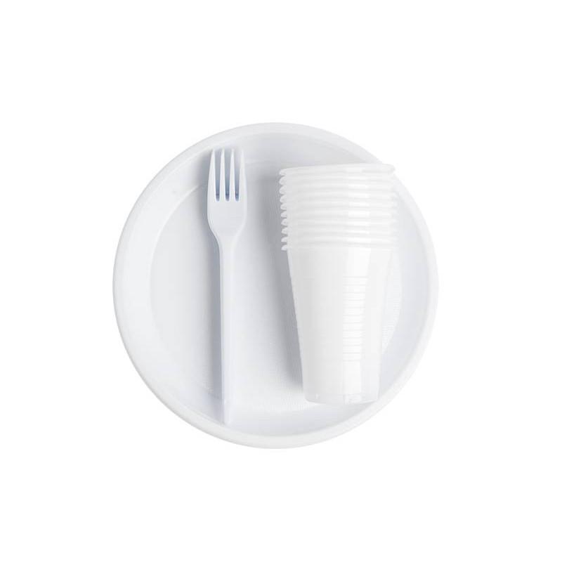 Набор одноразовой посуды Белый (арт. 06)