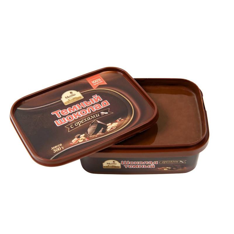 """Темный шоколад с орехами """"Мистер Чо"""" 300 гр (литой)"""