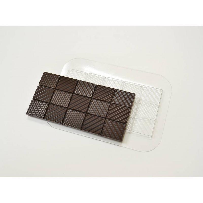 Пластиковая форма для шоколада Плитка Волны (арт. 74)