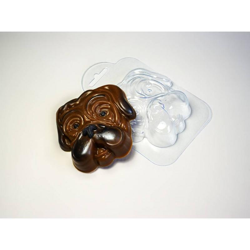 Пластиковая формочка для шоколада Собачья мордашка (арт. 77)