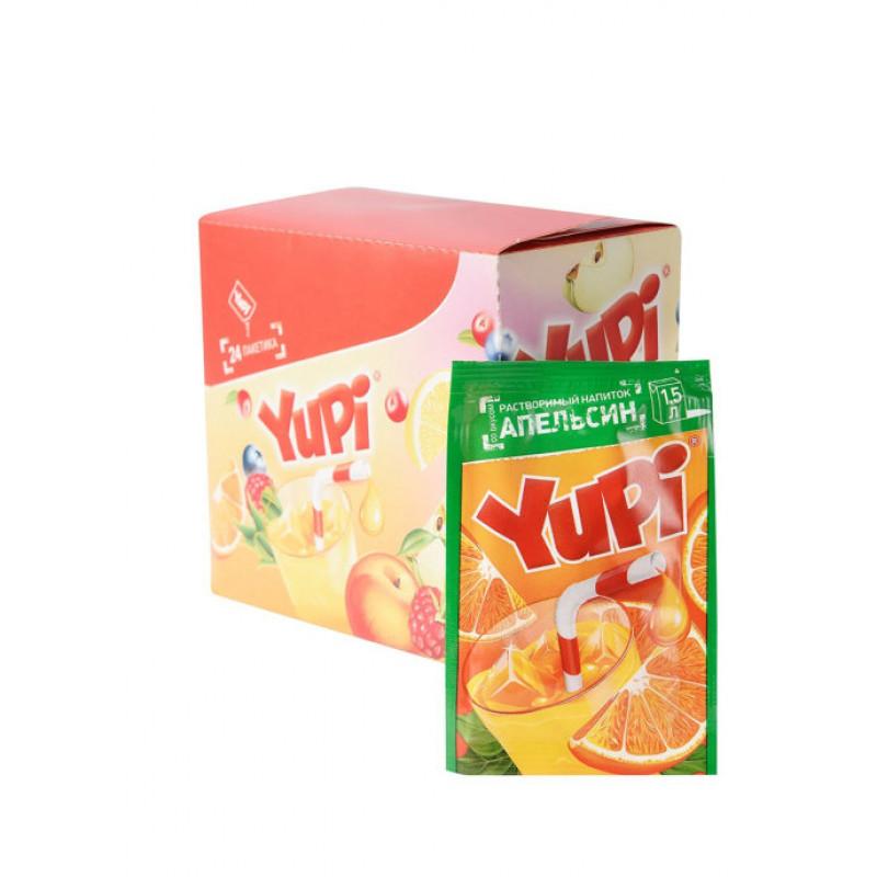 Yupi / Растворимый напиток со вкусом апельсина YUPI (блок 24шт по 15гр)